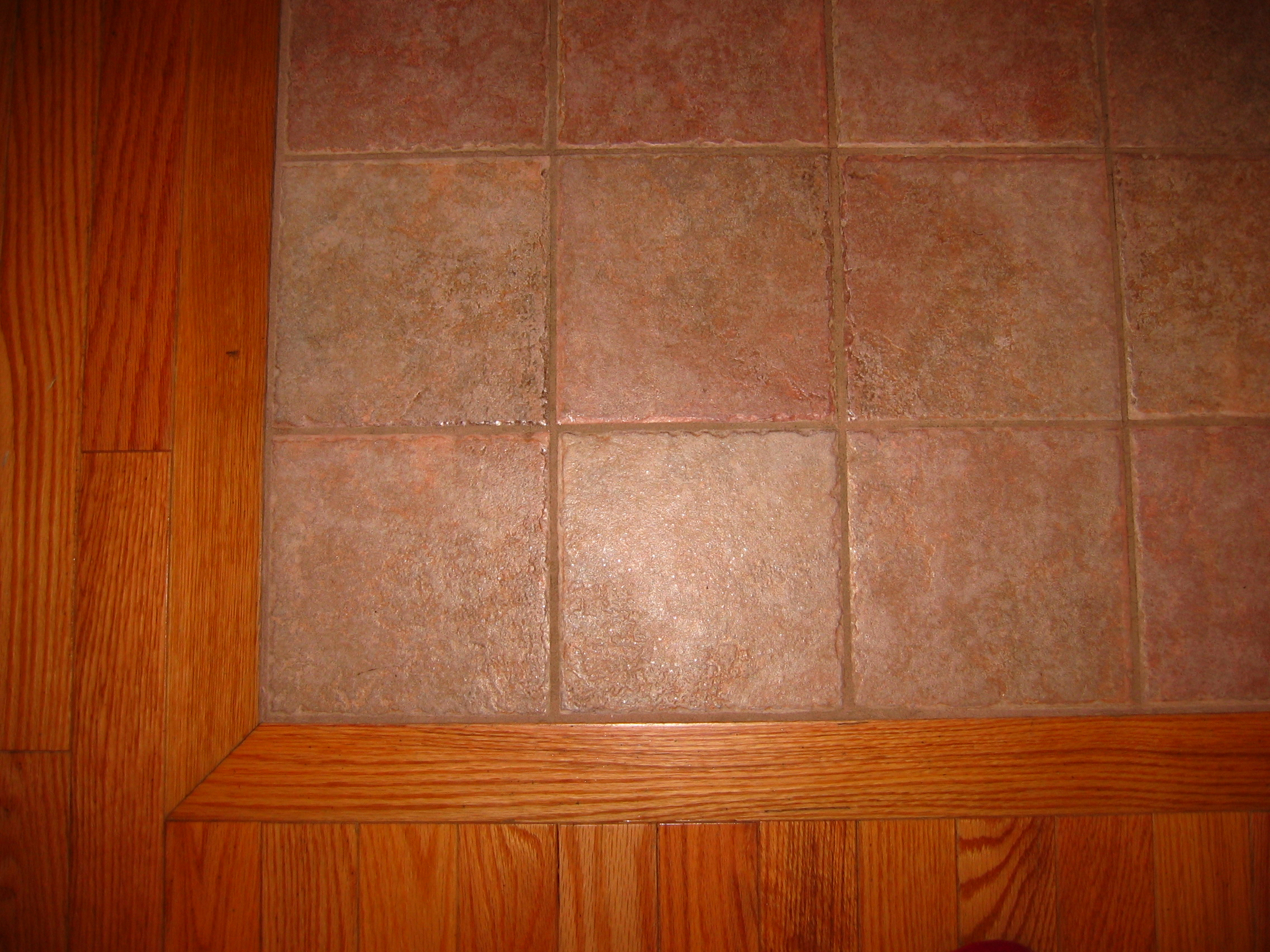 Tile over floor tiles