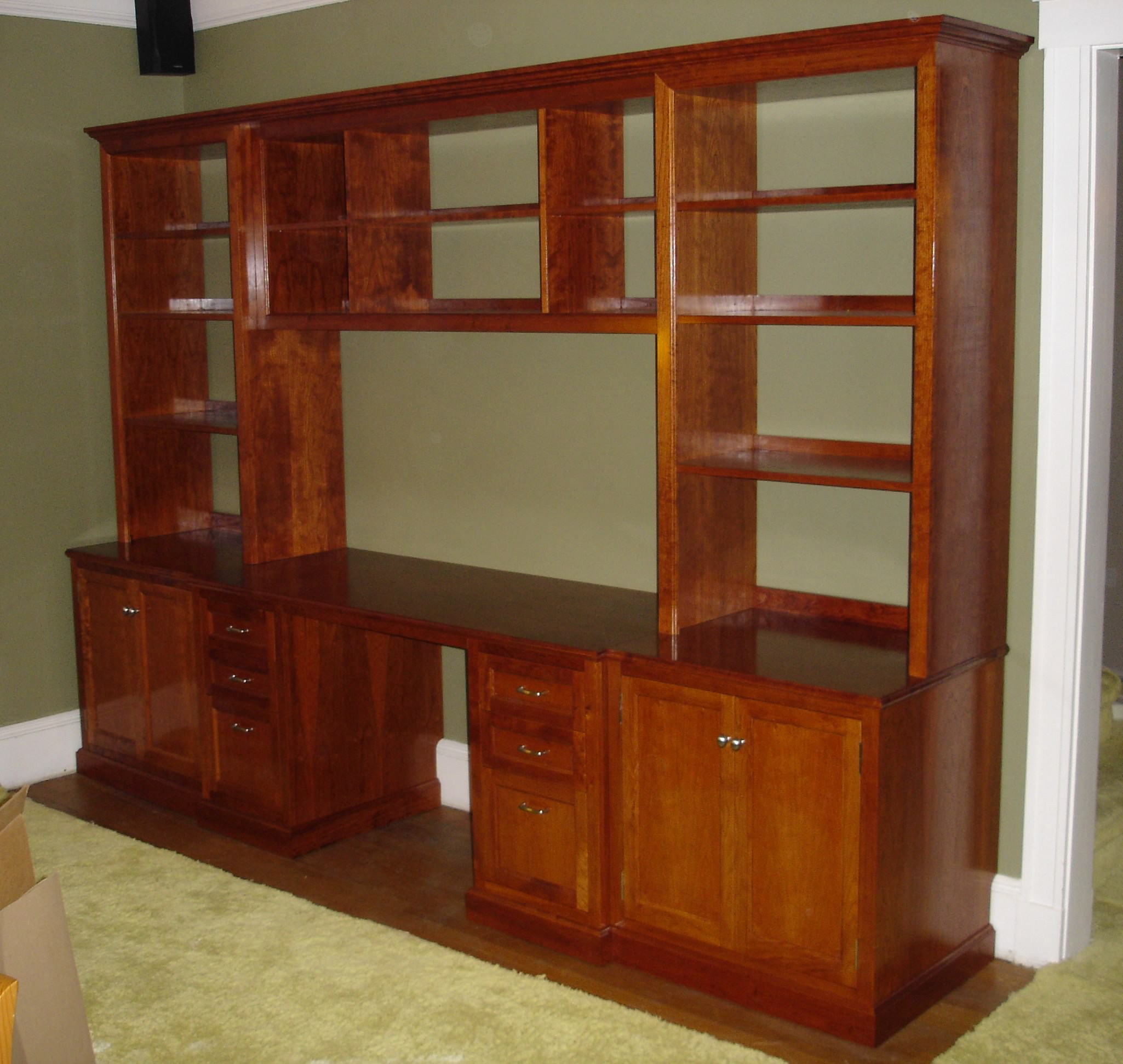 home office in cherry with file cabinet drawers shallow drawers for
